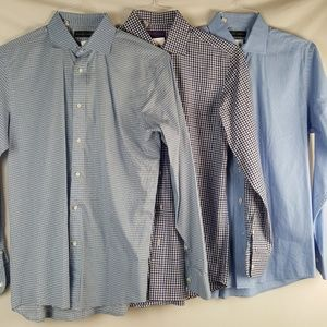 Set of 3 Ralph Lauren Mens Blue Button Down Shirt